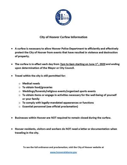 Curfew Information