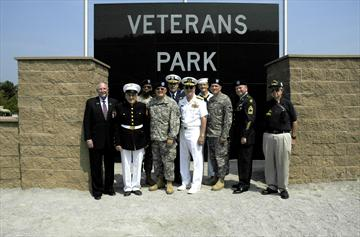 Veterans at park