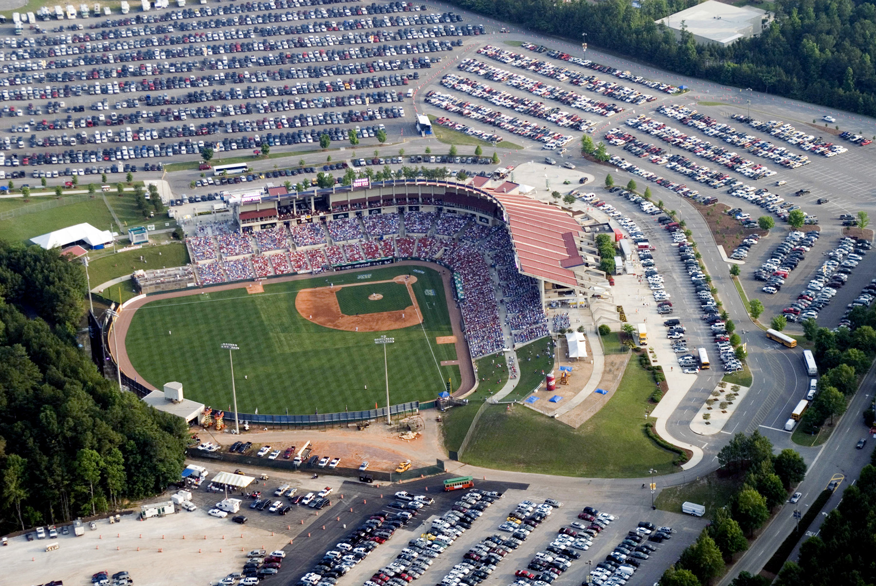 aerial of hoover met